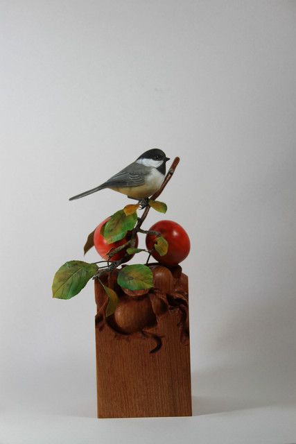 Black-capped Chickadee and Fall Apples