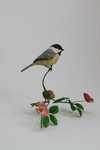 miniature black capped chickadee