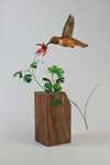 rufous hummingbird and columbine 75% lifesize Sold