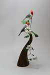 Red Crested cardinals and Clockvine SOLD